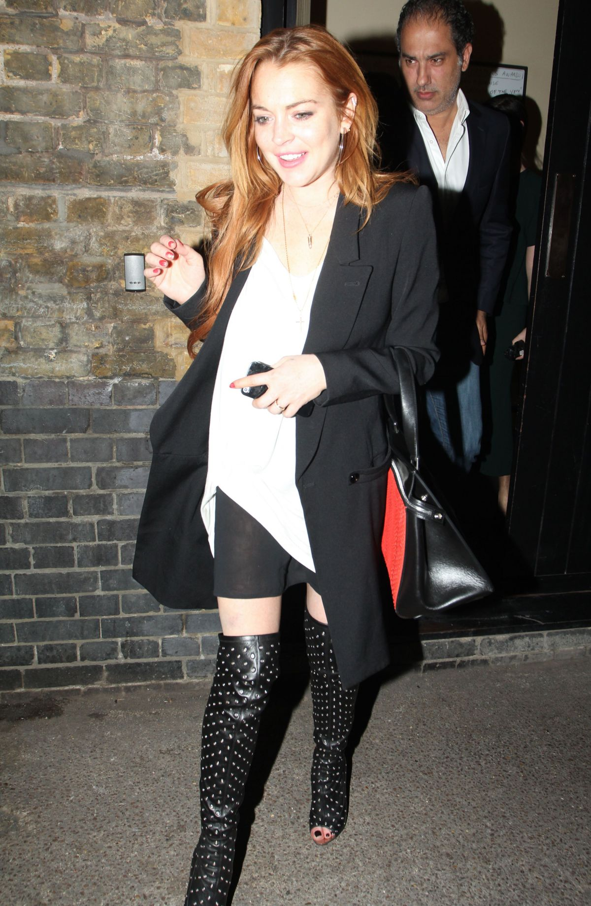 Lindsay Lohan At Chiltern Firehouse