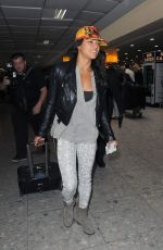 Michelle Rodriguez Arrives At Heathrow Airport