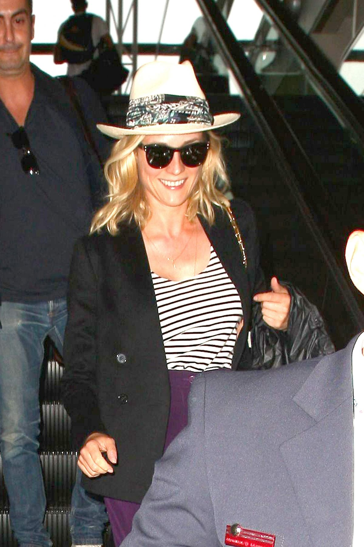 Diane Kruger Arriving On A Flight At LAX
