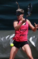 Eugenie Bouchard At A Practice Session On Wimbledon