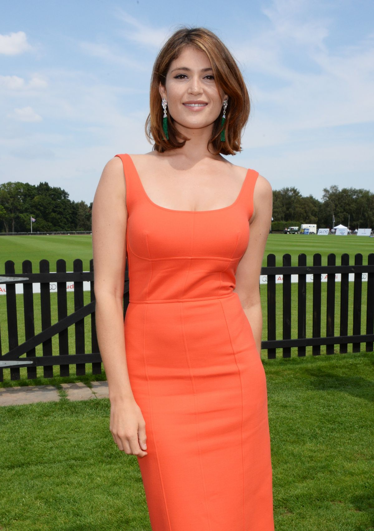 Gemma Arterton At Audi International At Guards Polo Club