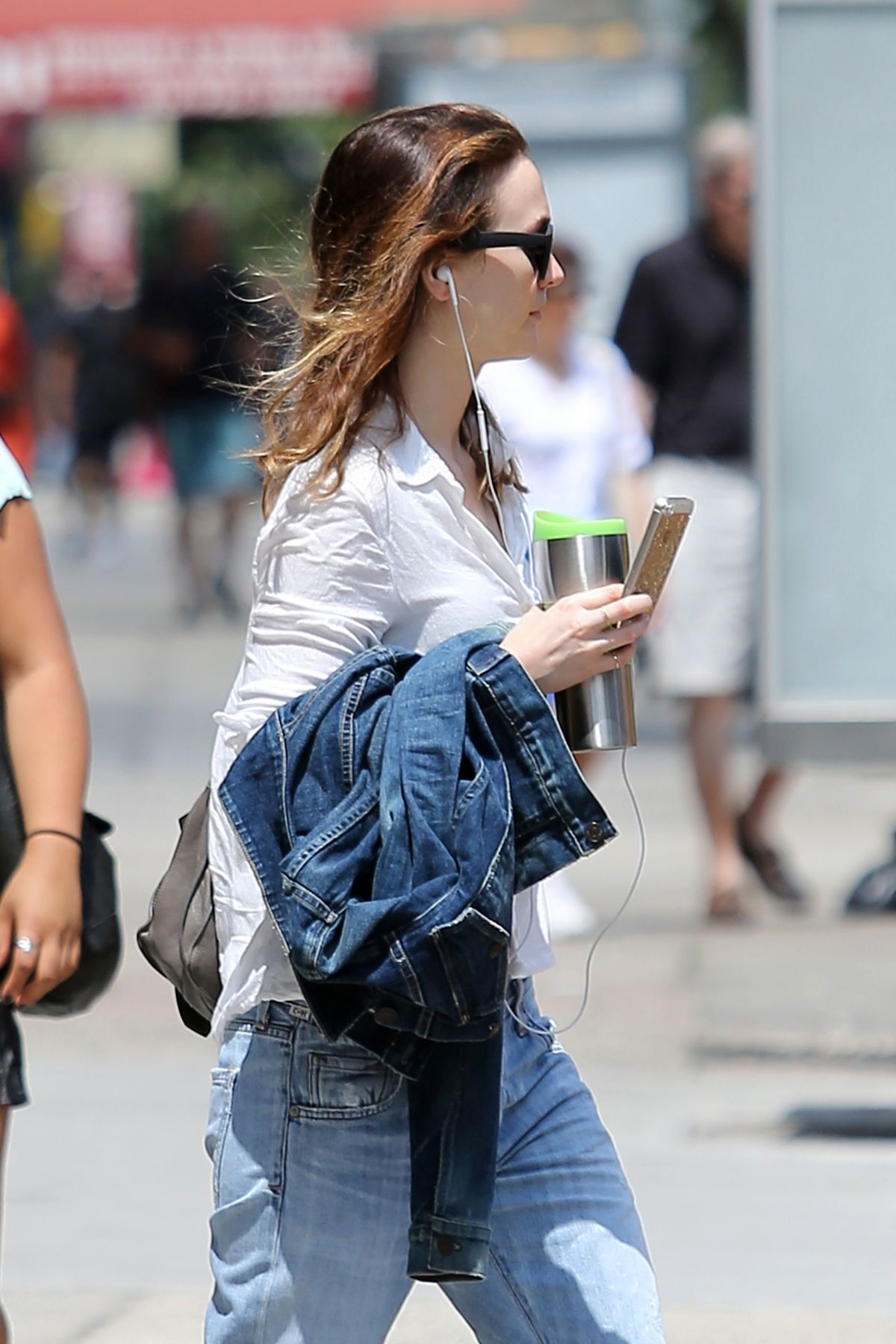 Leighton Meester Out And About In NYC
