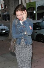 Lily Collins Arrives At Cafe Gratitude