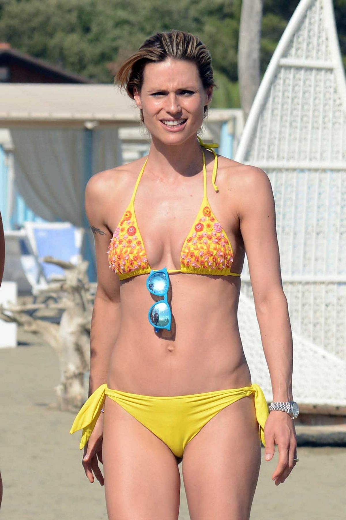 Good michelle hunziker bikini magnificent