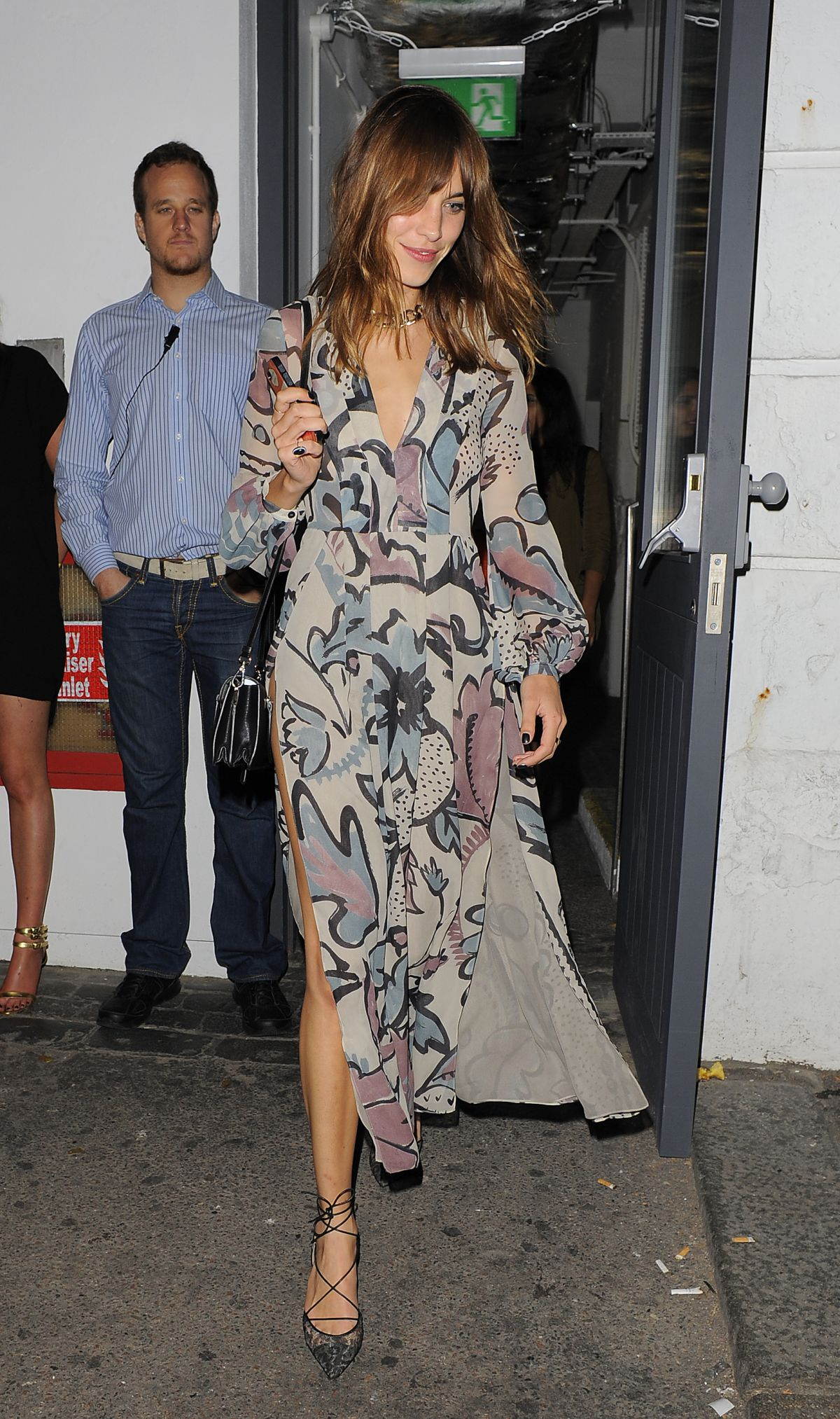 Shoreditch House: Abbey Clancy Leaving Shoreditch House