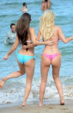 Anais Zanotti & Ana Braga On The Beach In Miami
