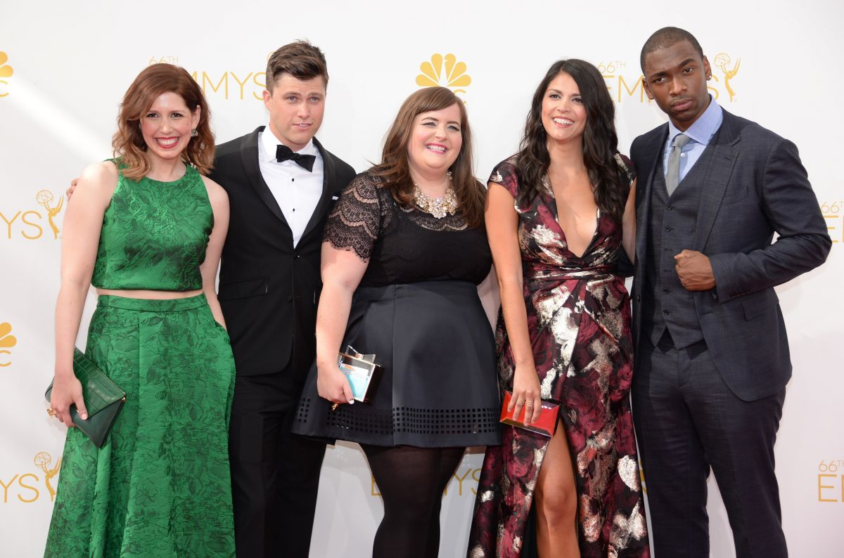 Cecily Strong & Vanessa Bayer At Primetime Emmy Awards