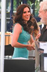 Daniela Ruah On The Set Of Extra In Universal City