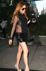 Lindsay Lohan Arriving At The Bowery Hotel In New York City