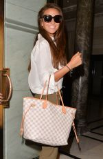 Michelle Keegan Arriving At A Hotel In London