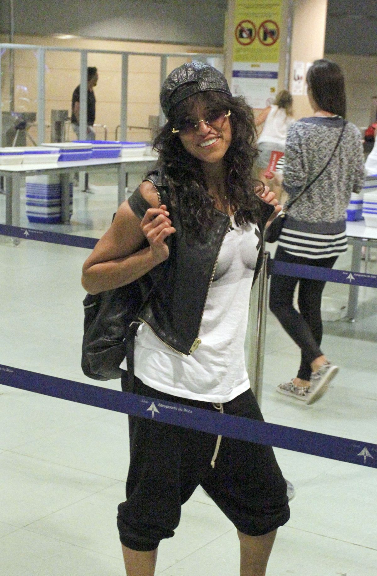 Michelle Rodriguez At The Airport In Ibiza
