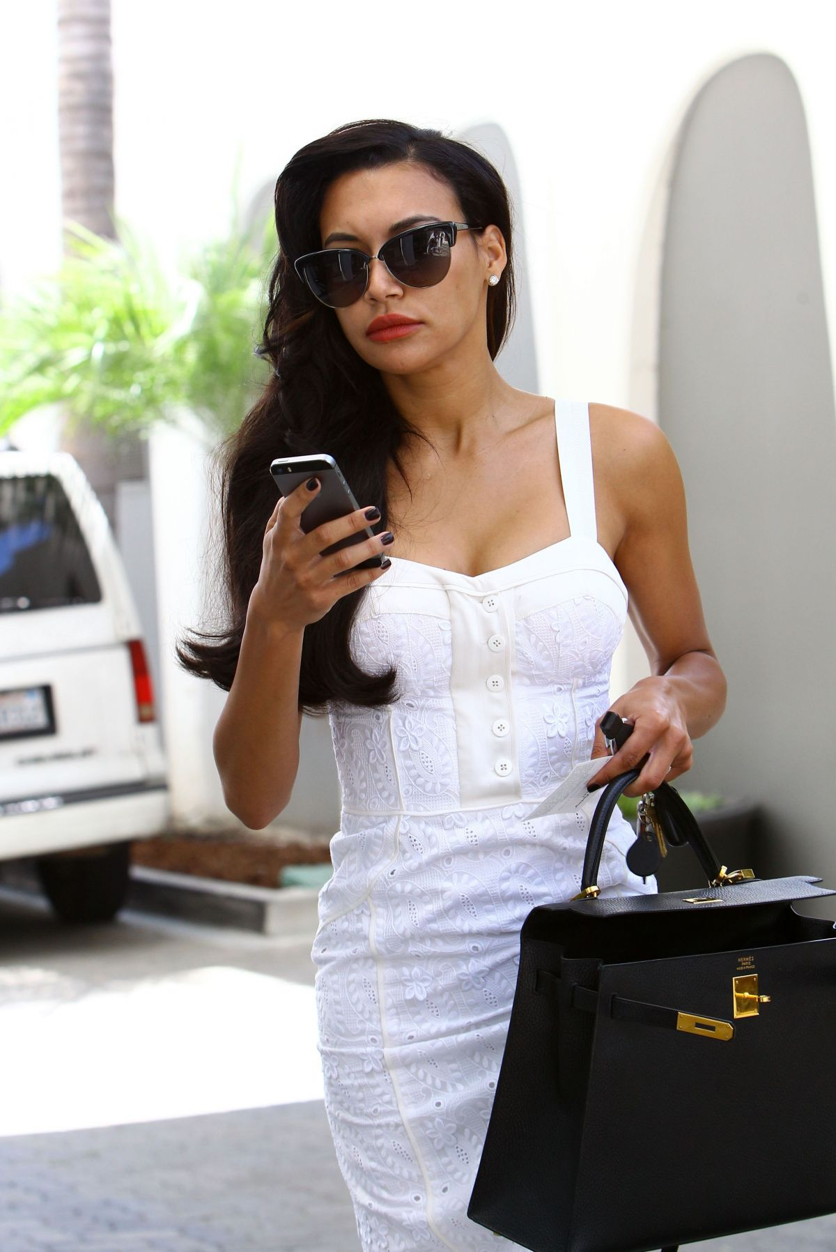 Naya Rivera Out And About In Beverly Hills