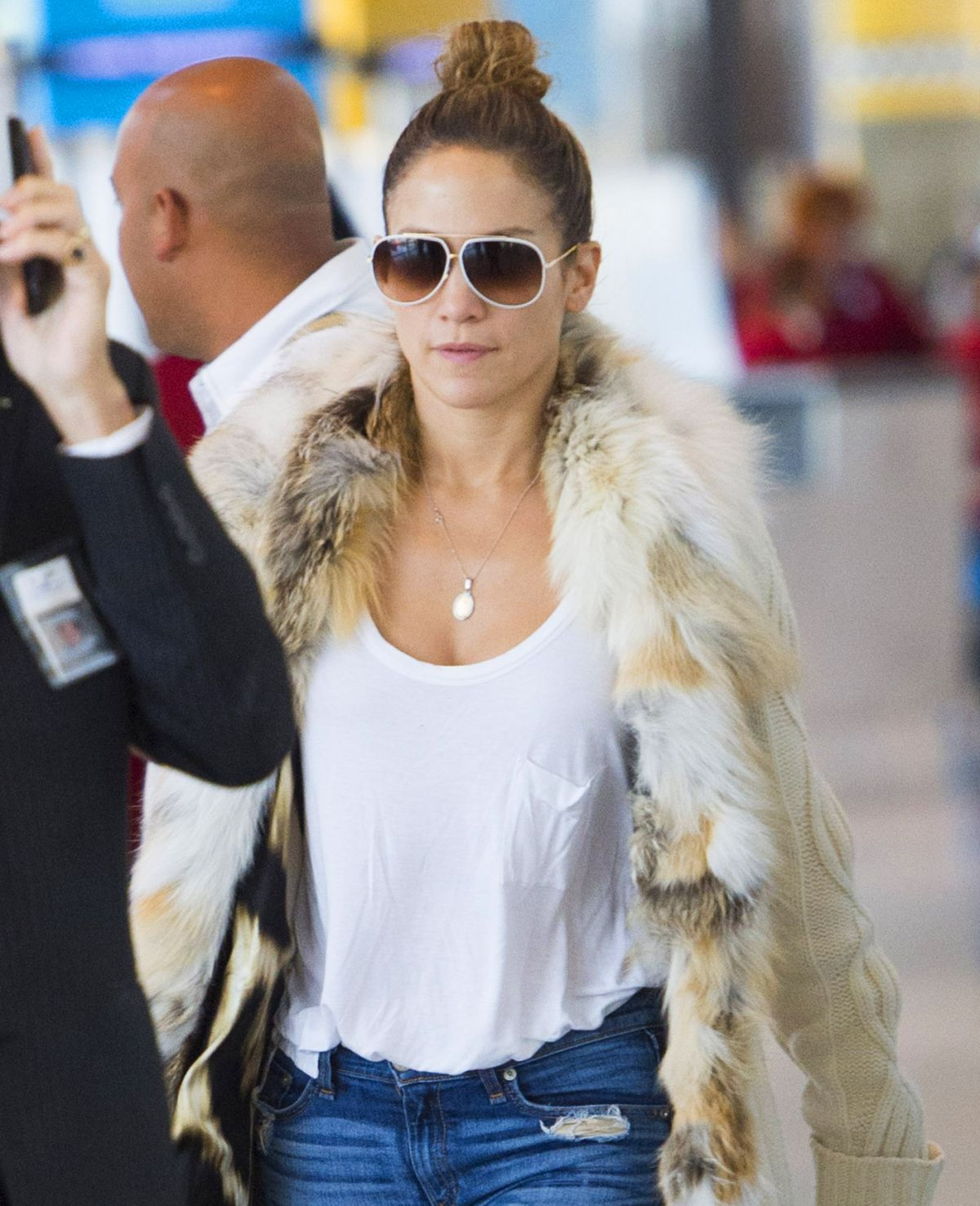 Jennifer Lopez At JFK Airport