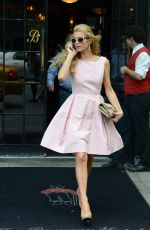 Paris Hilton Leaves Her Hotel In NYC