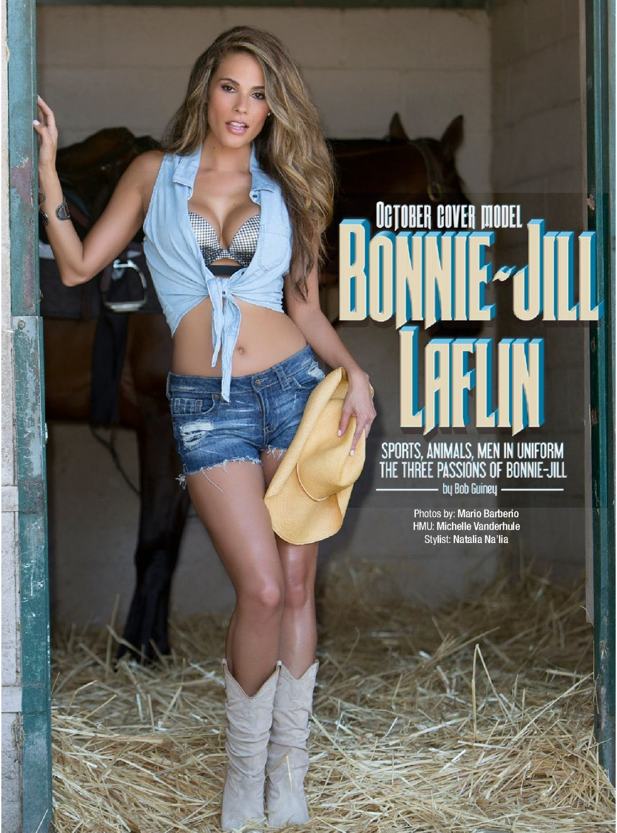 Bonnie-Jill Laflin In Kandy Magazine October 2014