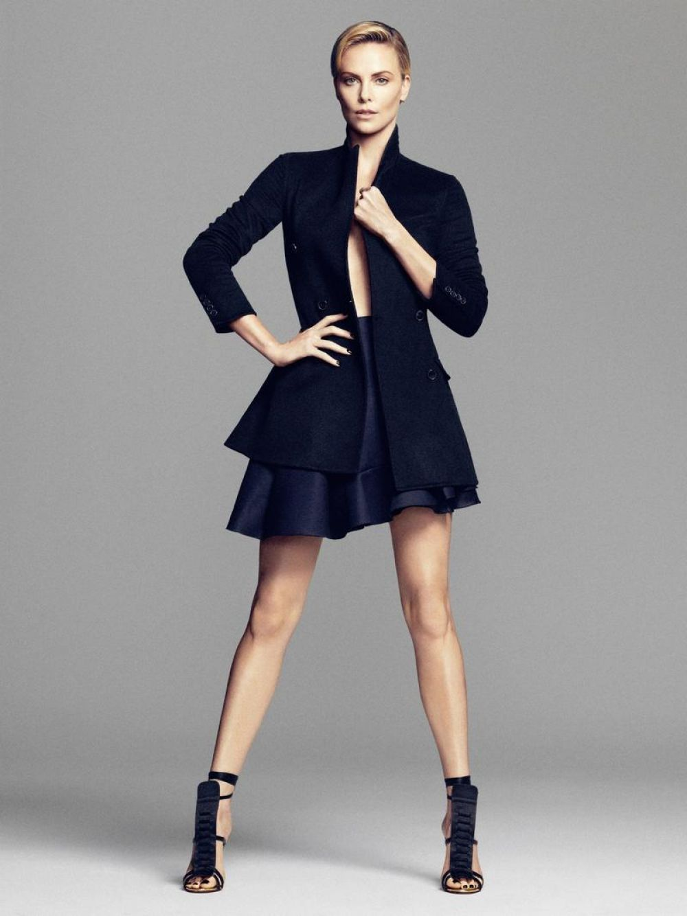 Fashion week Theron charlize harpers bazaar october for lady