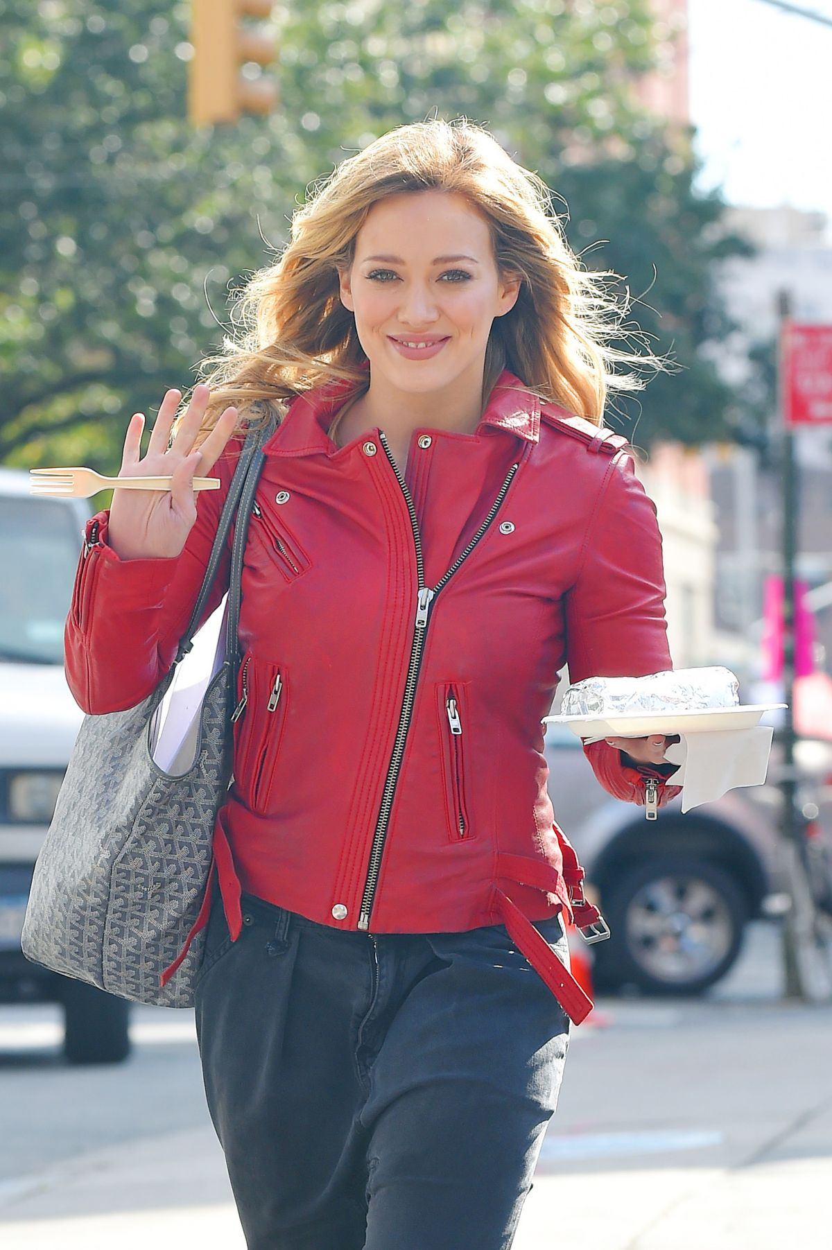Hilary Duff Out And About In NYC