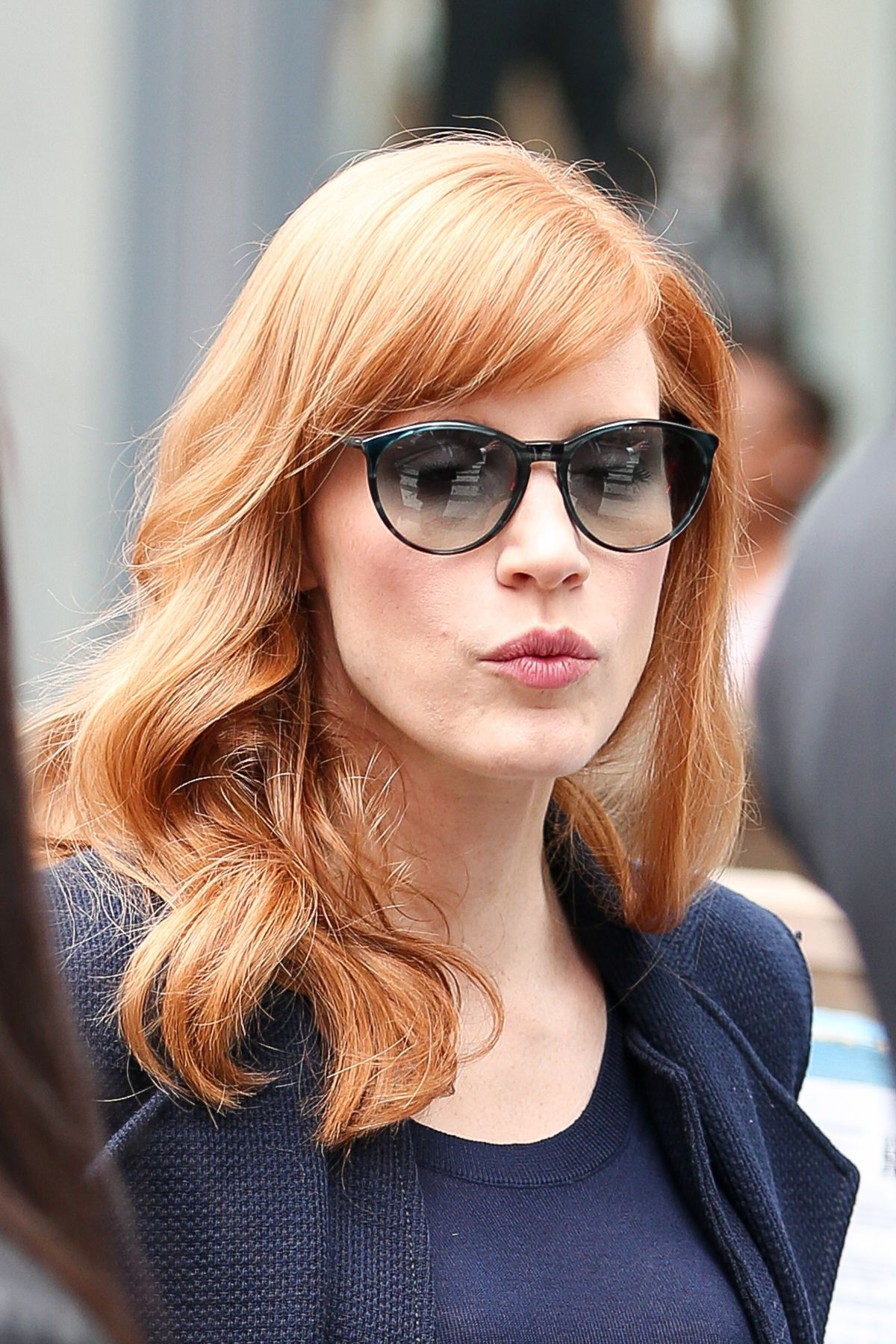 Jessica Chastain Leaving The MTV Studios In NYC
