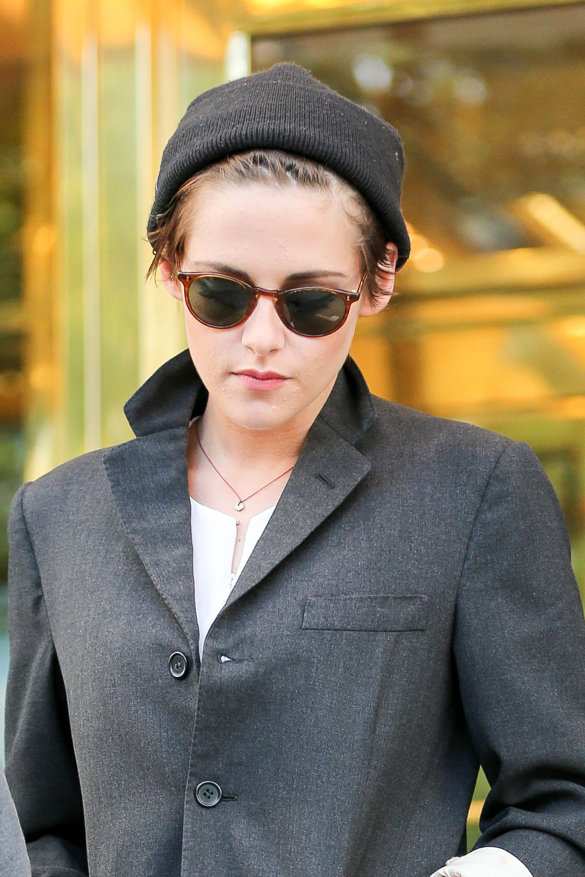 Kristen Stewart Spotted Out In NYC