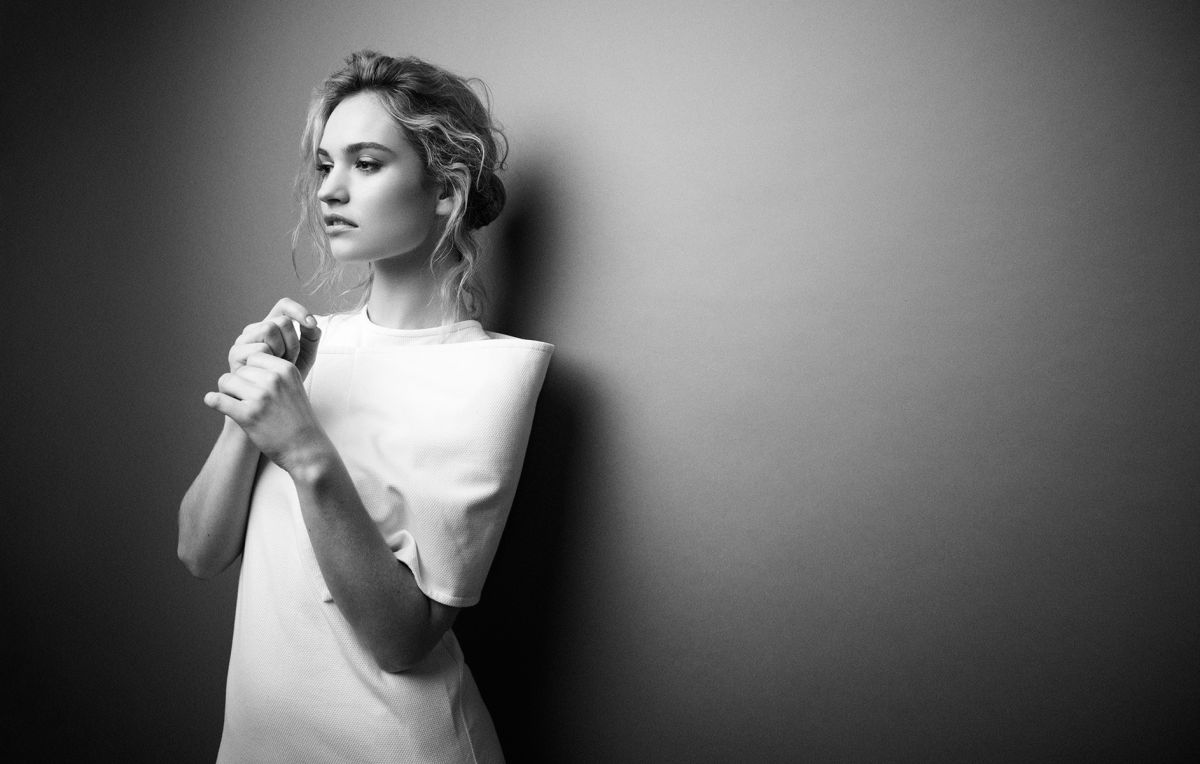 Lily James In Glamour UK July 2014
