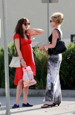 Melanie Griffith & Dakota Johnson Out At A Hand & Foot Spa In LA