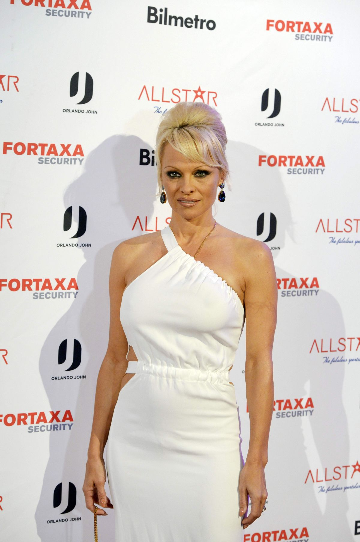 Pamela Anderson Arrives To The Inauguration Of Night Club All Star