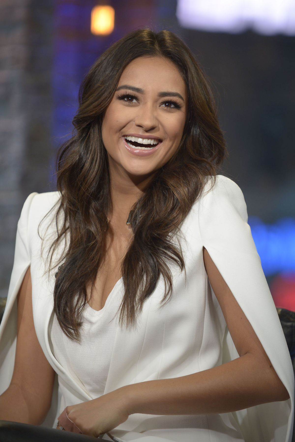 Shay Mitchell On The Set Of VH1 Big Morning Buzz Live In NY