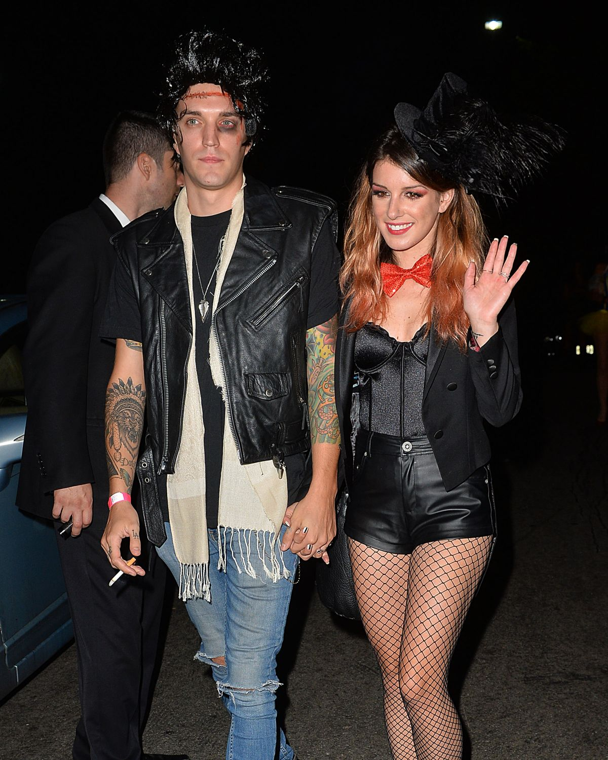 Shenae Grimes With Josh Beech Going To A Halloween Party