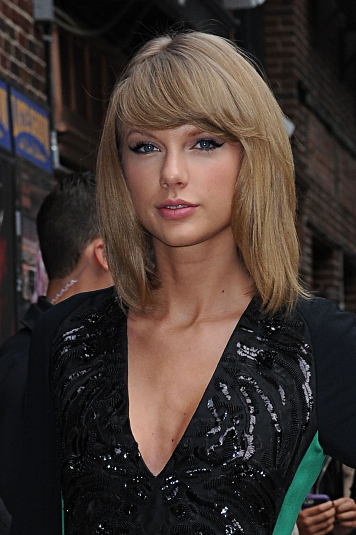 Taylor Swift At The David Letterman Show In New York City