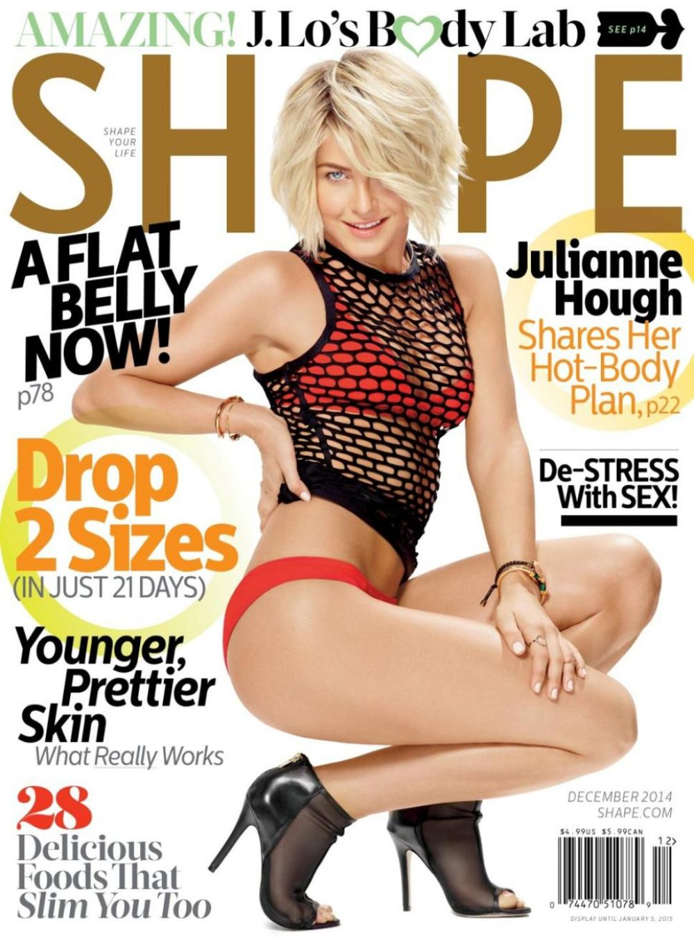 Julianne Hough In Shape Magazine December 2014