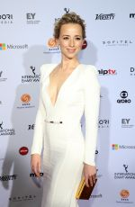 Karine Vanasse At 2014 International Academy Of Television Arts & Sciences Emmy Awards