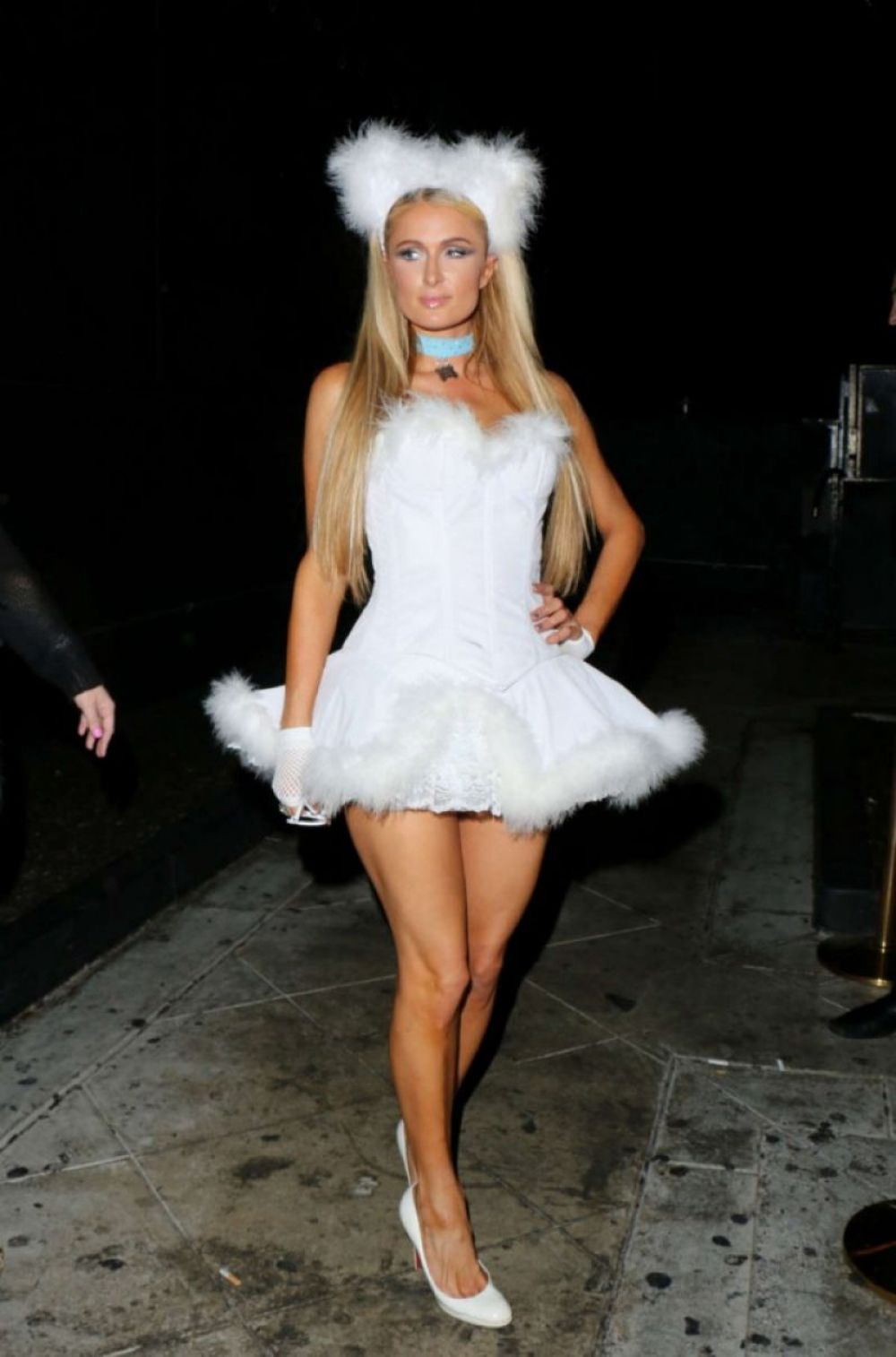 Paris Hilton At Halloween Party At 1oak In West Hollywood ...