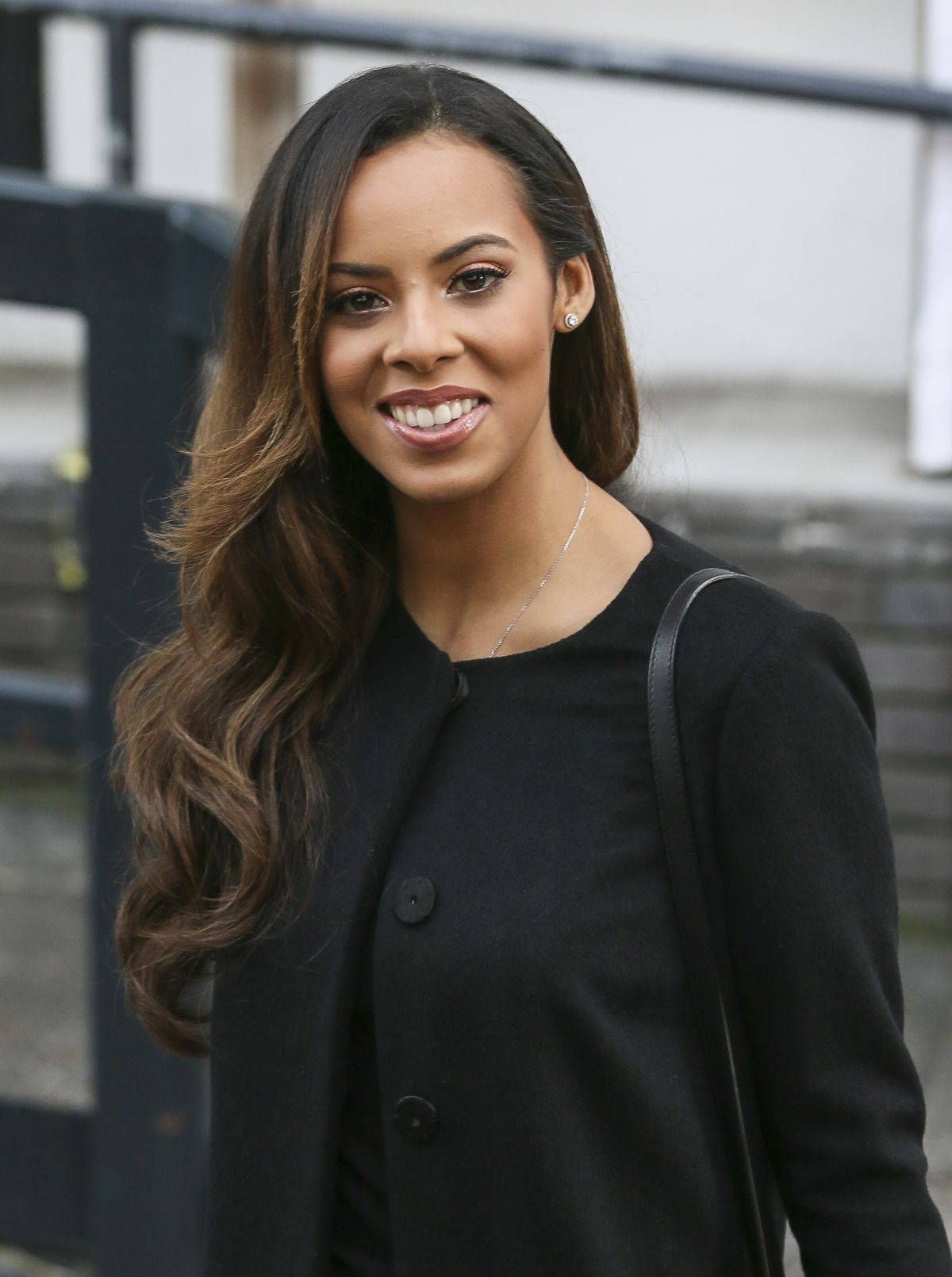 Rochelle Humes (The Saturdays) Outside The ITV Studios In London