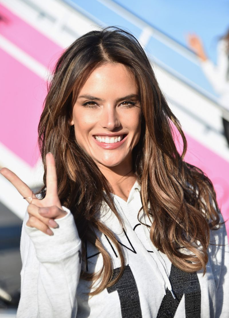 e8042ee9097f5 Alessandra Ambrosio Departing For The London For 2014 Victoria's Secret  Fashion Show