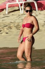 Chloe Green Wearing A Bikini Out In Barbados