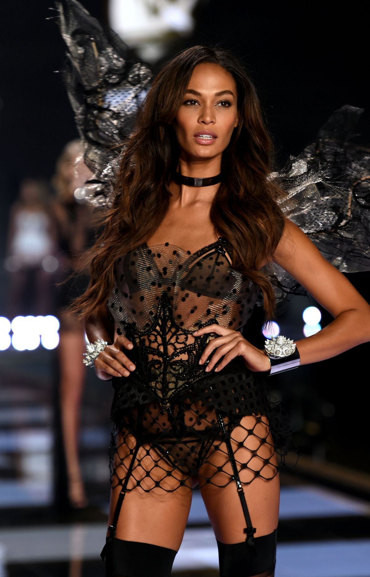 Joan smalls at 2014 victoria 39 s secret fashion show for Runway fashion show video