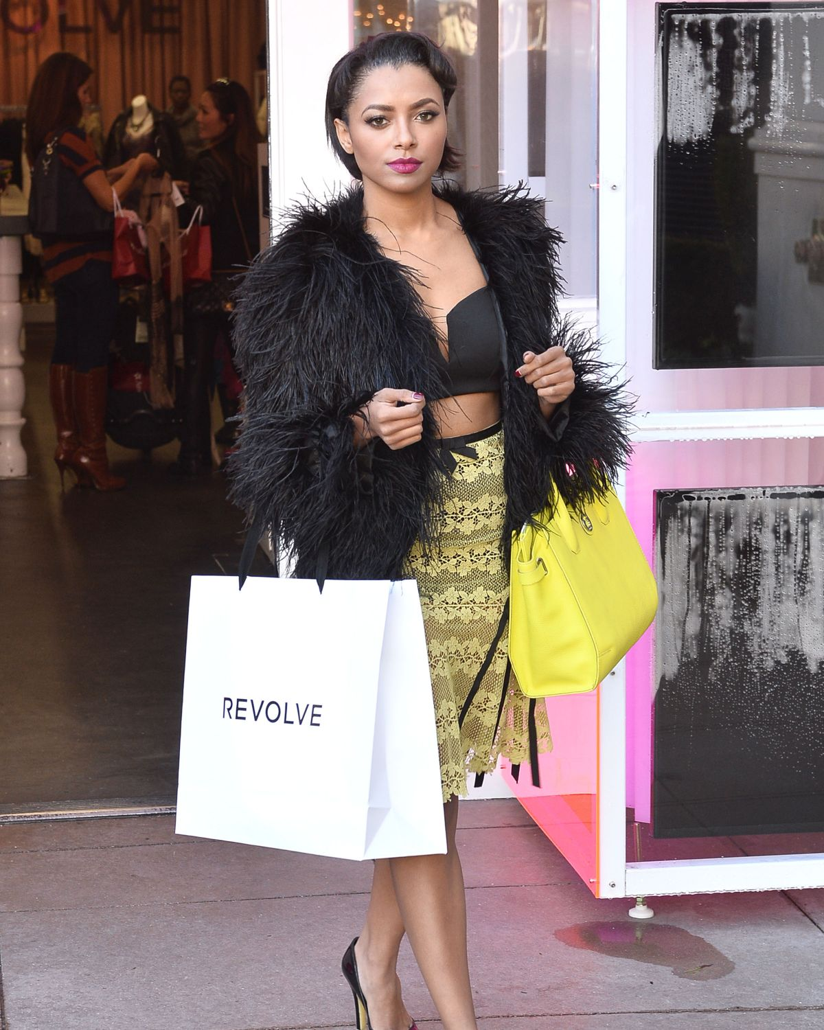 Revolve Boutiques: Kat Graham Shopping At The Revolve Popup Store