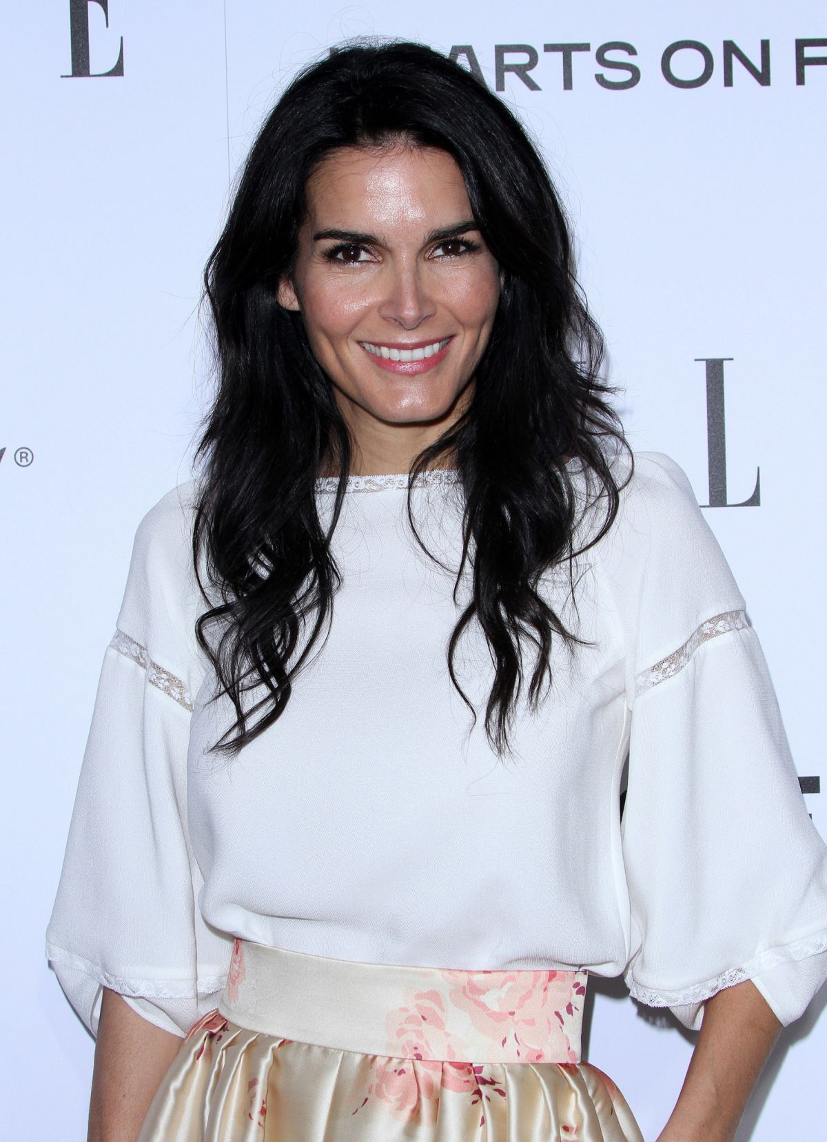 Angie Harmon At ELLE