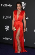 Lea Michele At InStyle And Warner Bros Golden Globes Party