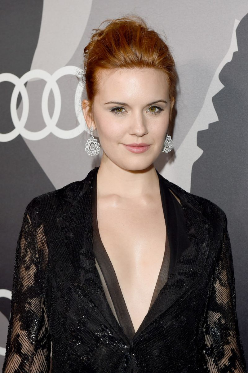 Maggie Grace At Audi Celebrates Golden Globes Week 2015