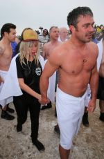 Lady Gaga & Taylor Kinney At The 2015 Polar Plunge