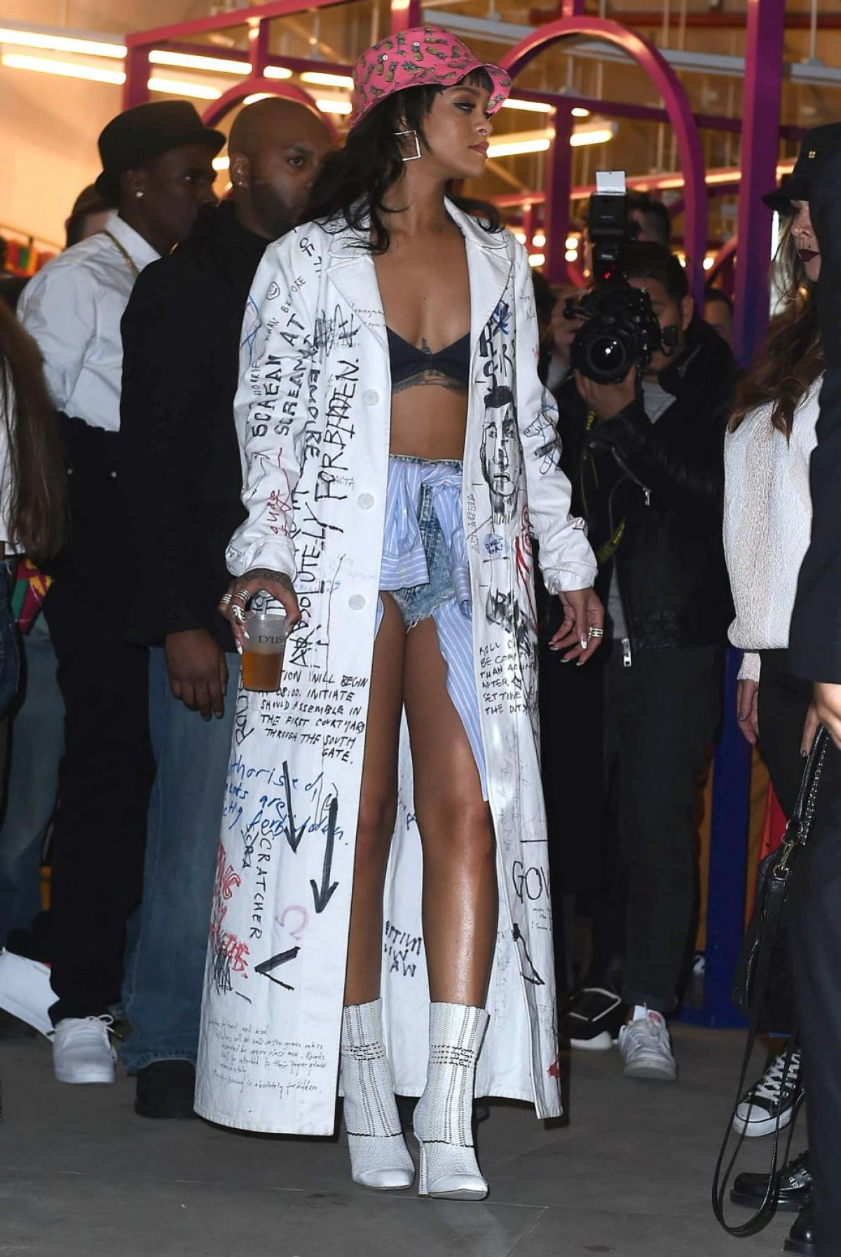 rihanna attends the melissa forde hat collection launch celebzz. Cars Review. Best American Auto & Cars Review
