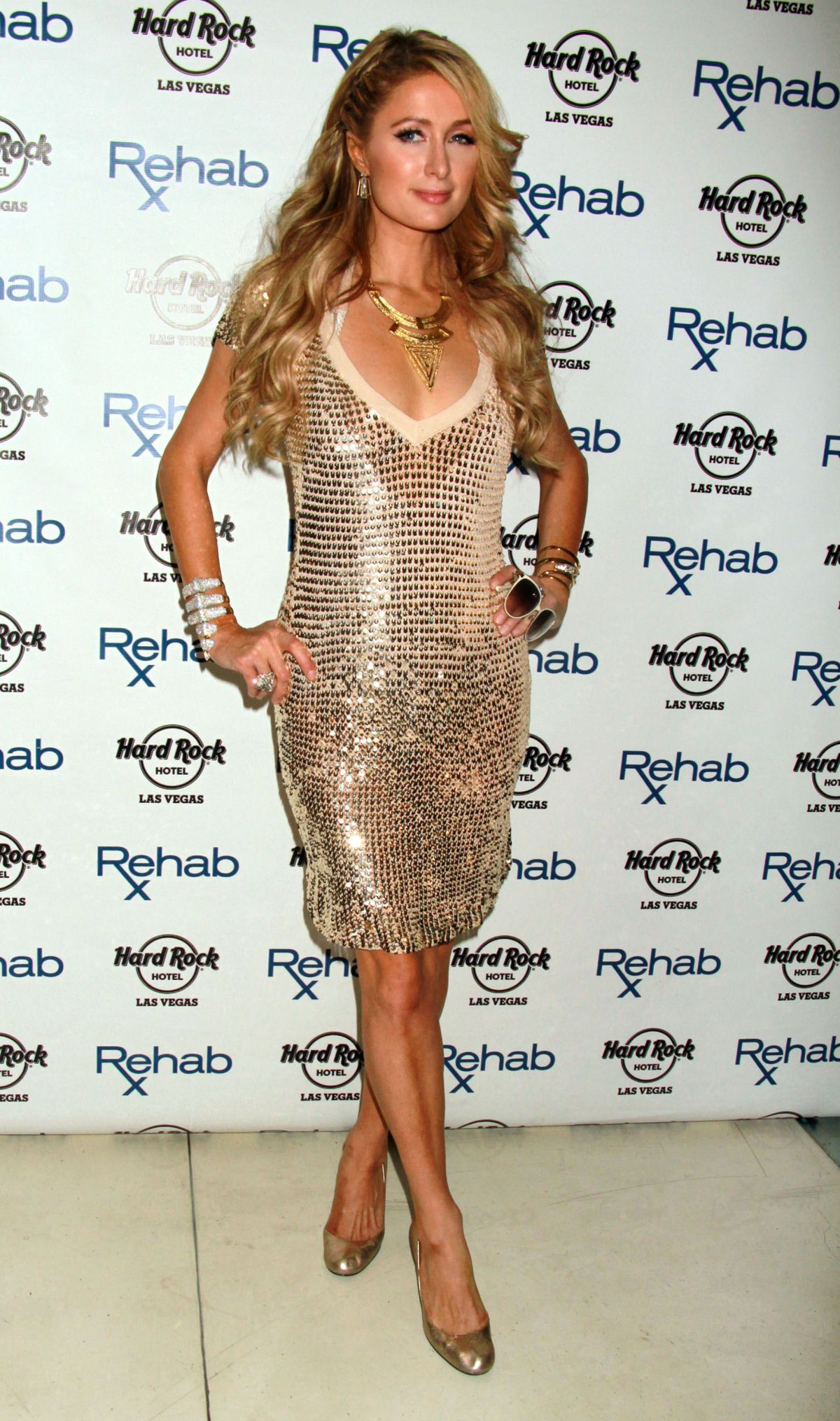 paris hilton at hard rock hotel in las vegas celebzz