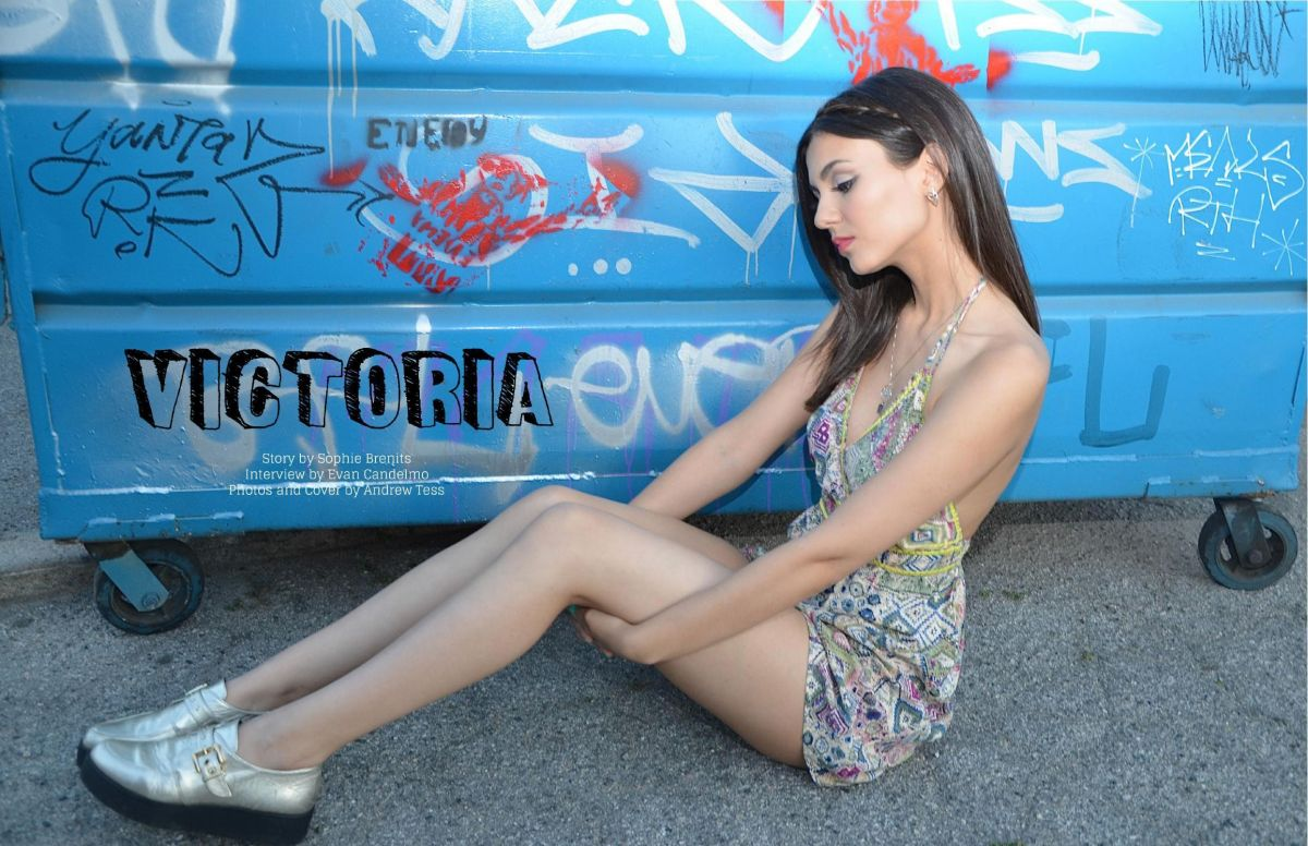 Victoria Justice In Line Up Magazine April 2015