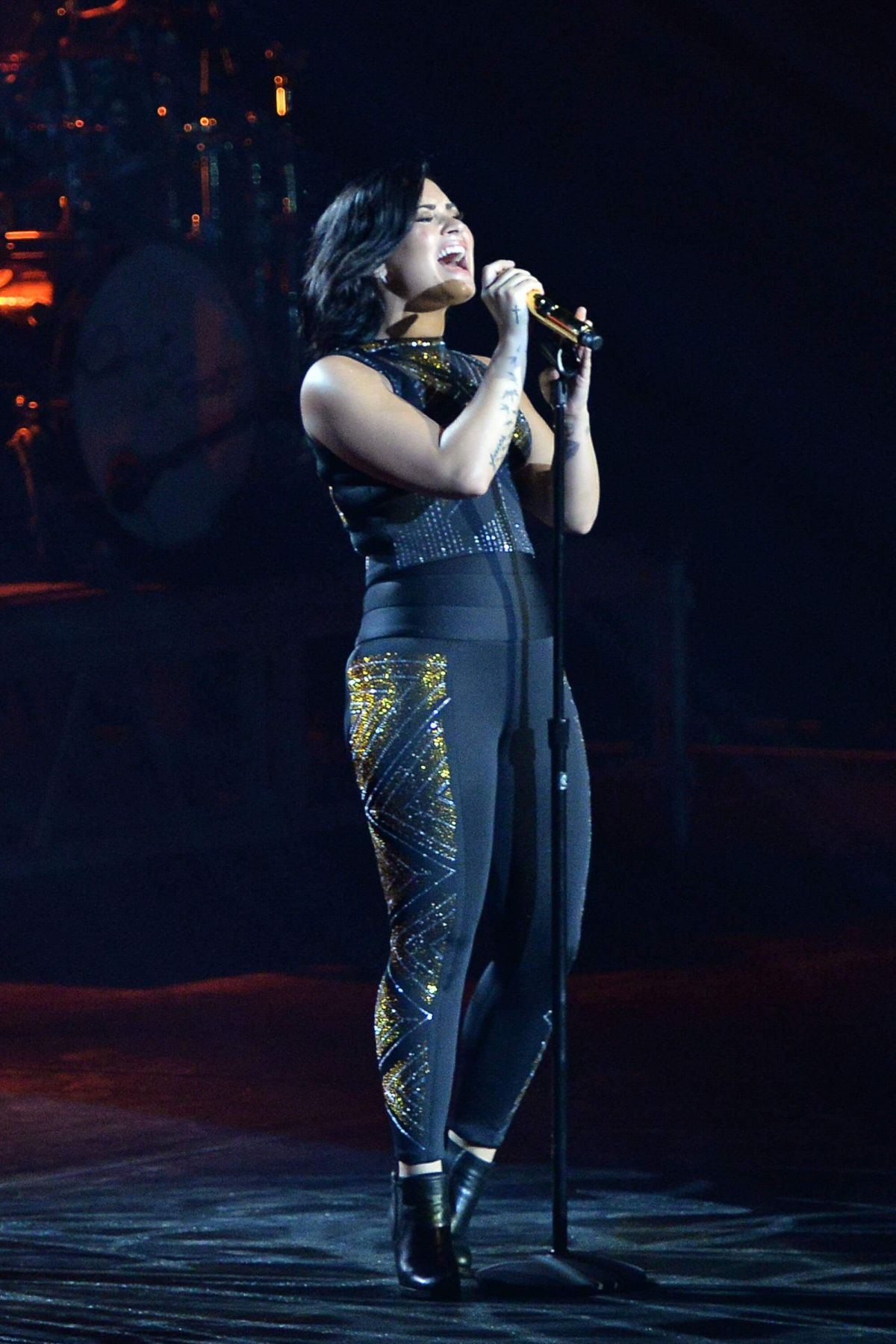 Demi Lovato Performing At
