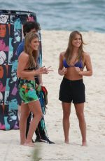 Bia & Branca Feres In Bikinis On The Beach