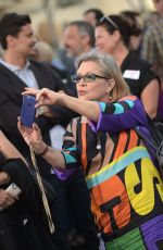 Carrie Fisher At Premiere Of Warner Bros. Pictures