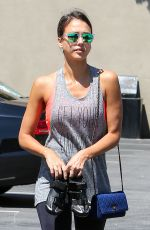 Jessica Alba At A Soul Cycle Class