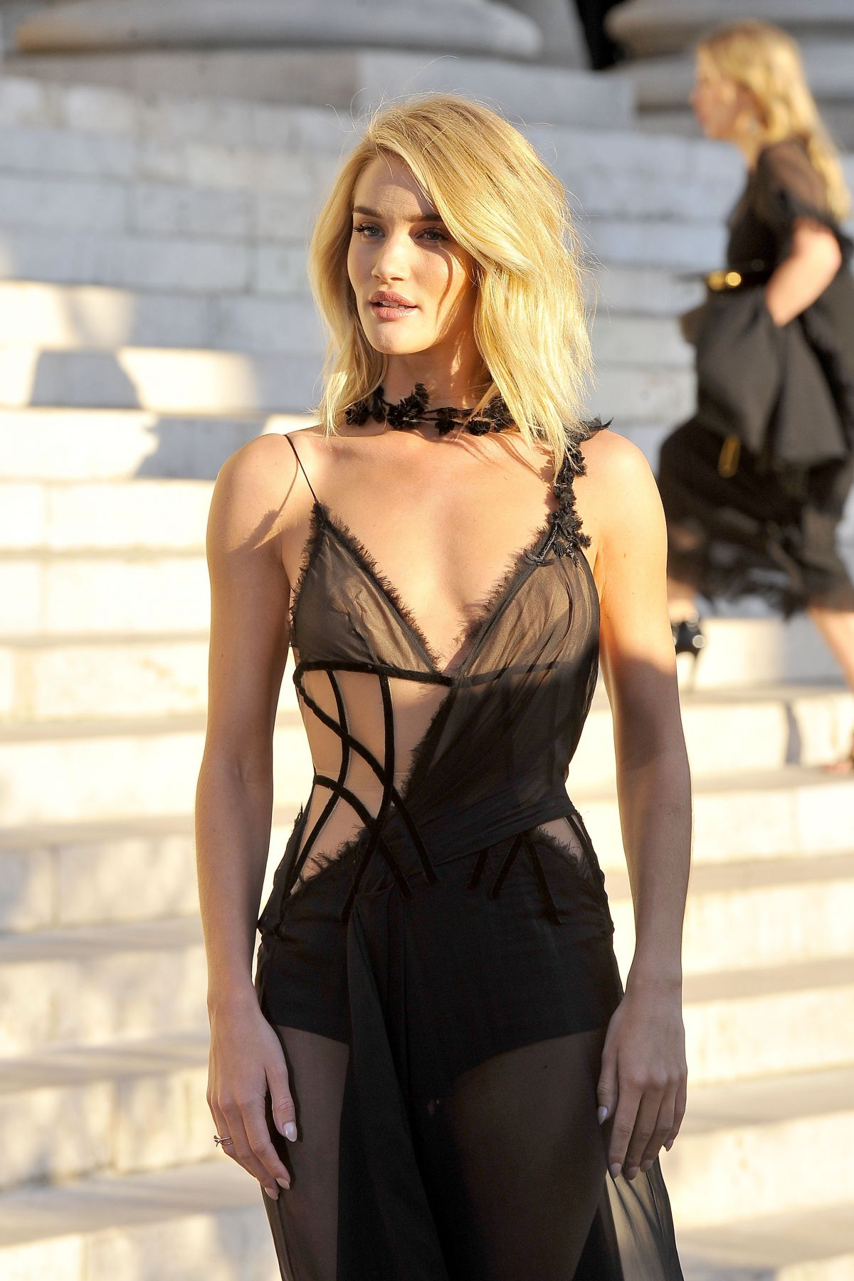 Rosie Huntington-Whiteley At Atelier Versace Show - Celebzz - Celebzz Rosie Huntington Whiteley