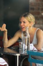 Sienna Miller Eating Lunch In NYC